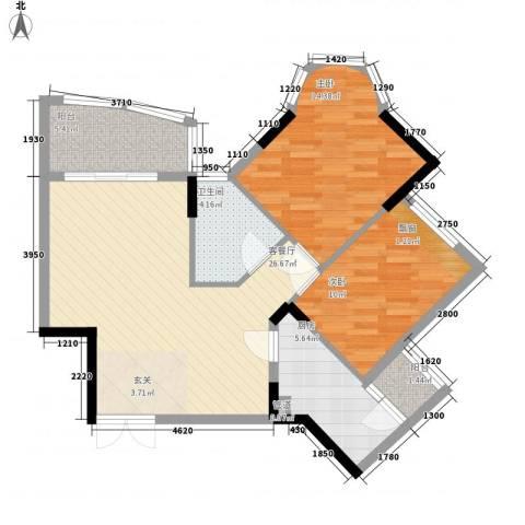 盛世华庭2室1厅1卫1厨94.00㎡户型图
