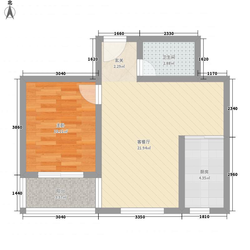 山海阳光户型1室