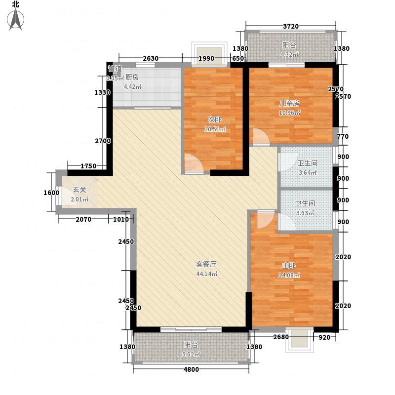 益鑫大厦146.30㎡户型3室2厅2卫