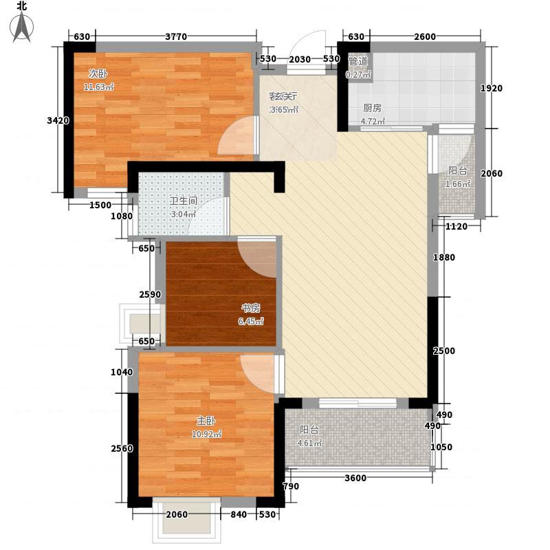新世纪汉江湾5.00㎡7、10#D2户型3室2厅1卫1厨