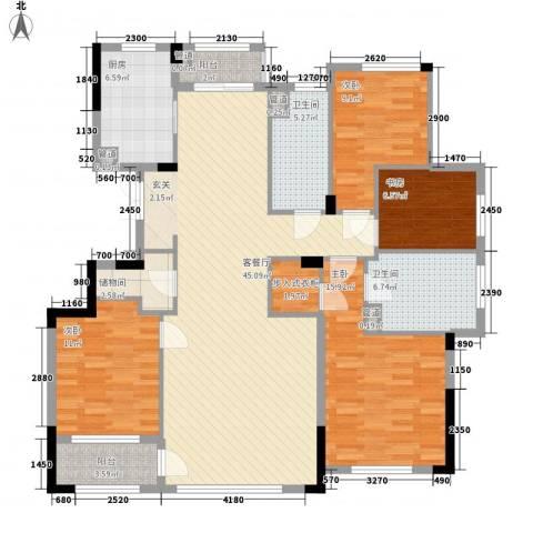 荣合公馆4室1厅2卫1厨132.00㎡户型图