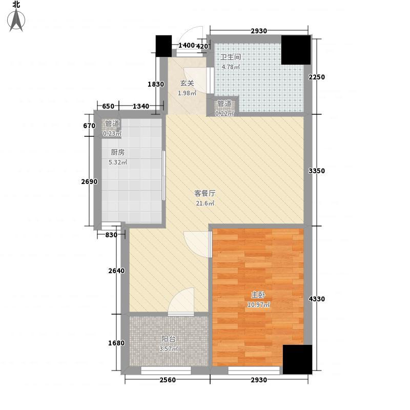 青庭68.21㎡三户型1室2厅1卫1厨