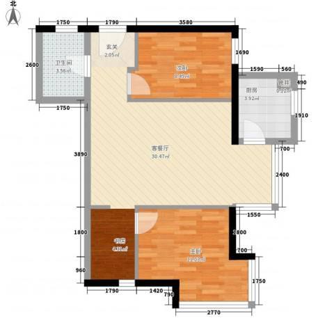 海岸星期天2室1厅1卫1厨83.00㎡户型图
