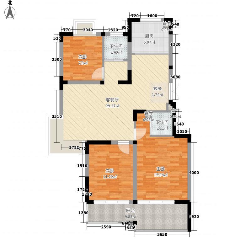合鑫广场12.00㎡C户型3室2厅2卫