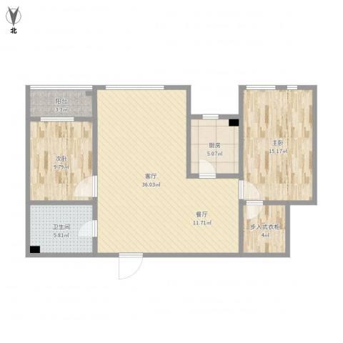 艺术家公寓B座16022室1厅1卫1厨112.00㎡户型图