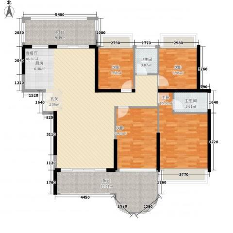 嘉宏世纪豪庭4室1厅2卫0厨158.00㎡户型图
