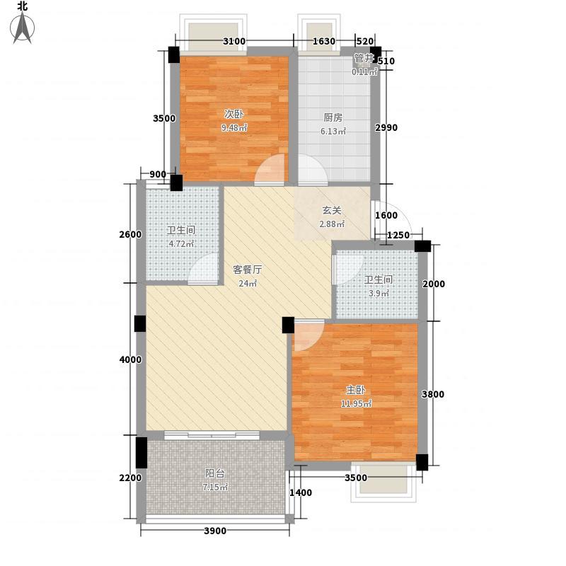 兴福佳苑幸福佳苑5户型3室2厅