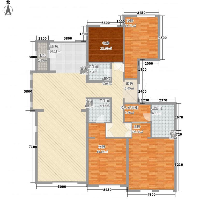 半湾半岛一期平墅26#楼三层平面图户型