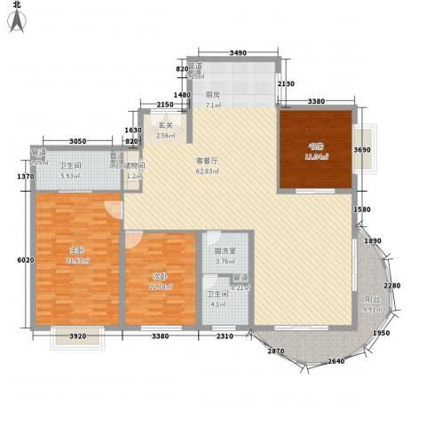 财富海景花园3室2厅2卫0厨186.00㎡户型图