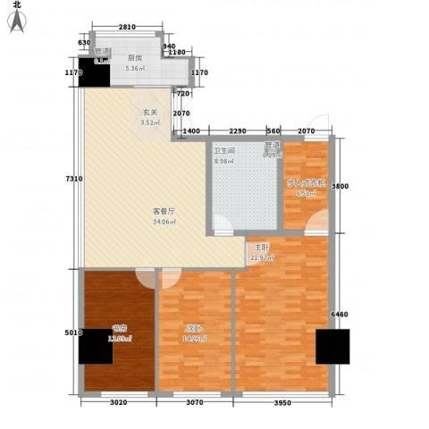 凤凰文化广场3室1厅1卫1厨148.00㎡户型图