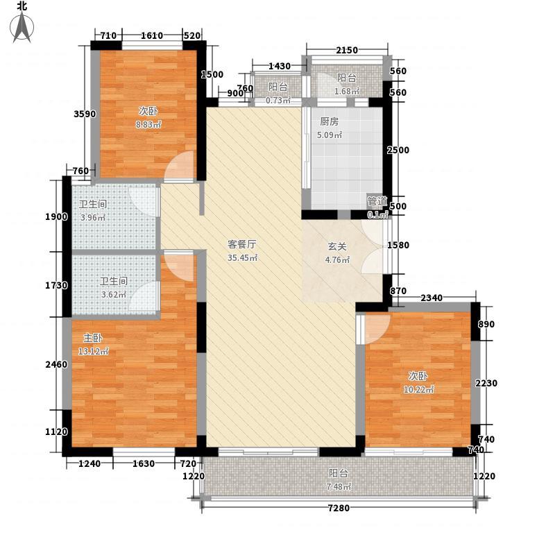 海尔宿舍2户型3室2厅1卫1厨