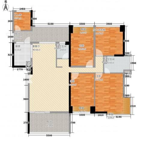 城建仁山智水花园3室1厅2卫1厨180.00㎡户型图