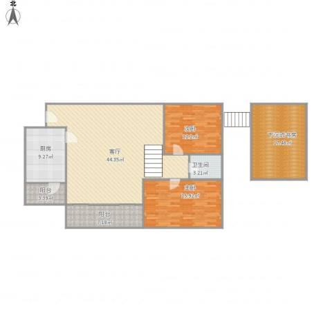 金宇名都2室1厅1卫1厨150.00㎡户型图