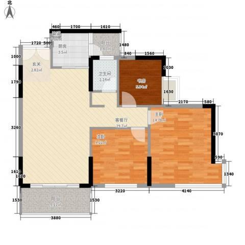 纳威人的幸福3室1厅1卫1厨72.26㎡户型图