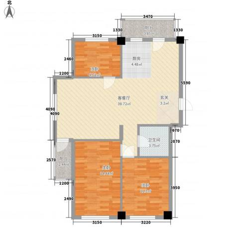 澜・语3室1厅1卫0厨112.00㎡户型图