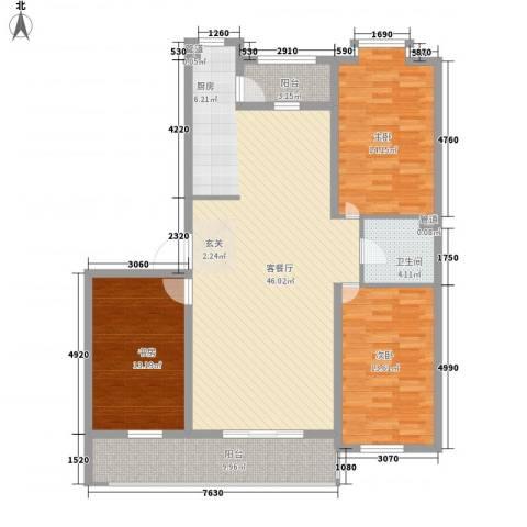伸马梧桐湾3室1厅1卫0厨146.00㎡户型图