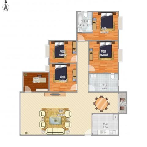 海悦新城41座4025室1厅2卫1厨179.00㎡户型图