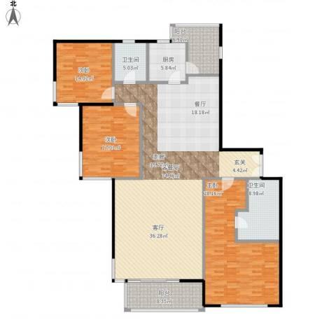 嘉天汇3室1厅2卫1厨230.00㎡户型图