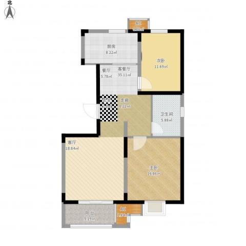 天久一品2室1厅1卫1厨121.00㎡户型图