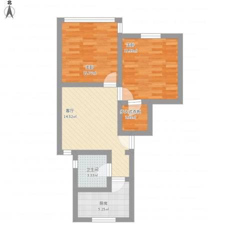 龙柏四村2室1厅1卫1厨74.00㎡户型图