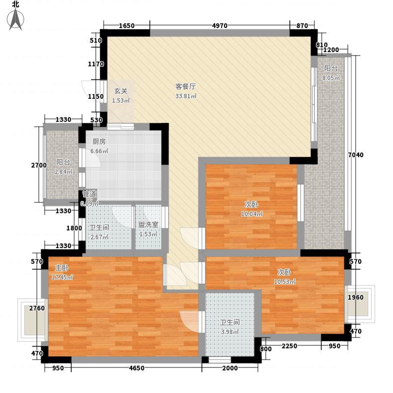 金辉城江城里一期洋房所有楼栋标准层E6户型