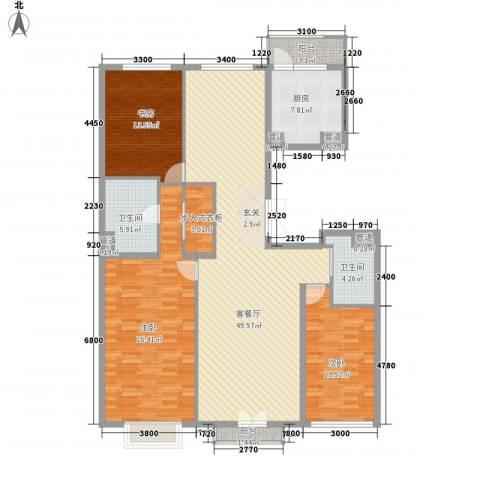 北京尊府3室2厅6卫1厨162.00㎡户型图