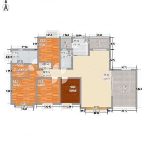 汇港豪庭4室1厅2卫1厨179.00㎡户型图