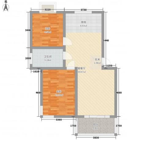 星辰名都2室1厅1卫0厨98.00㎡户型图