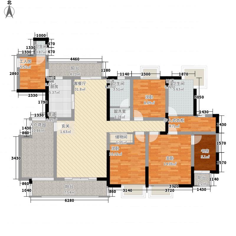华润置地中央公园180.00㎡华润置地中央公园户型图云缇Garden户型5室2厅3卫1厨户型5室2厅3卫1厨