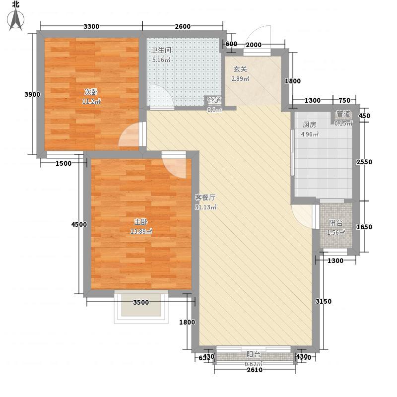 鼓楼巷农行家属院221户型2室2厅1卫1厨