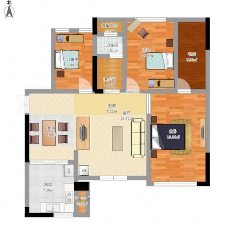 CROSS尚公馆4室1厅1卫1厨120.00㎡户型图