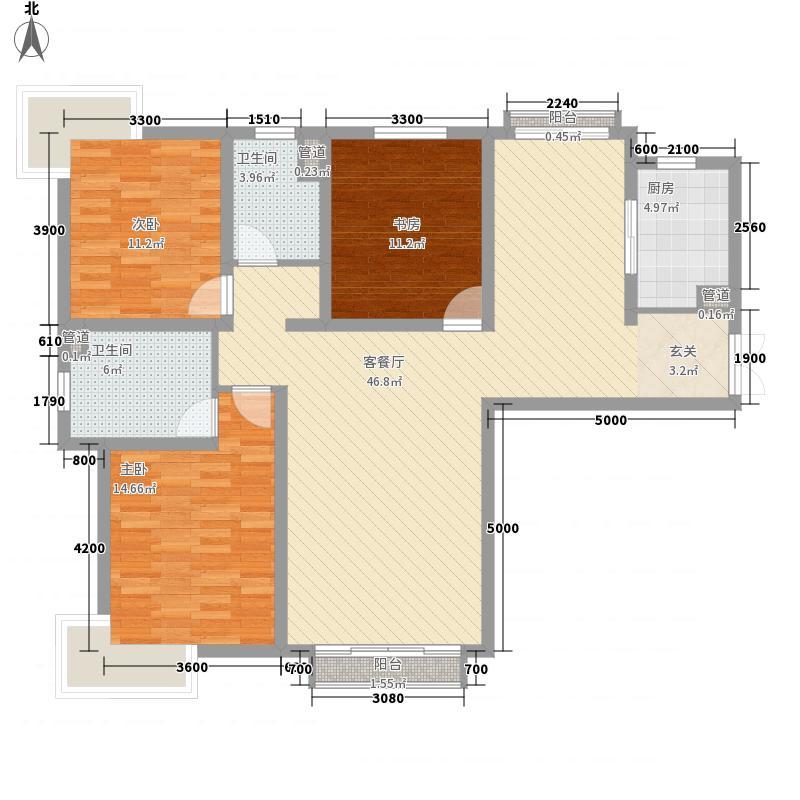 鼓楼巷农行家属院E1户型3室2厅2卫1厨