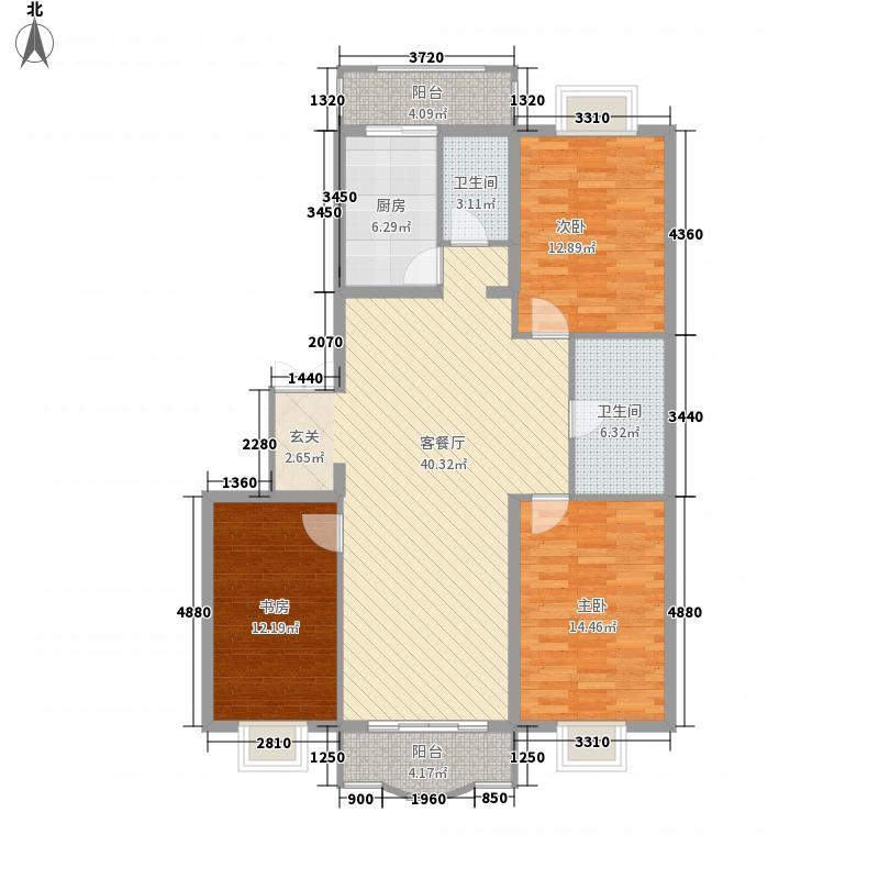 四海花园145.00㎡四海花园户型图3室2厅2卫户型10室