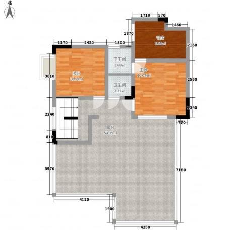 碧海乾图花园3室0厅2卫0厨170.00㎡户型图