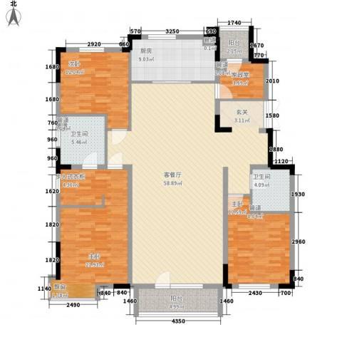 万科惠斯勒小镇3室1厅2卫1厨190.00㎡户型图