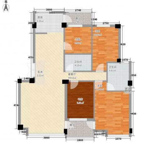 华夏海景4室1厅2卫0厨144.00㎡户型图