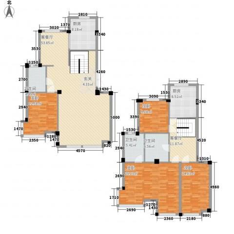 华夏海景4室2厅3卫2厨224.00㎡户型图