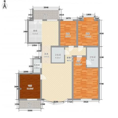 成龙花园4室1厅2卫0厨164.00㎡户型图