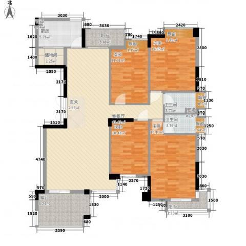 汇银奥林匹克花园4室1厅2卫1厨174.00㎡户型图