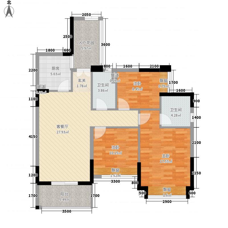 �豪领逸户型3室2厅2卫1厨