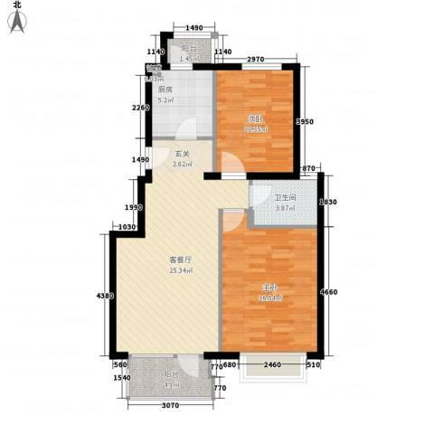 金色漫香林别墅2室1厅1卫1厨93.00㎡户型图