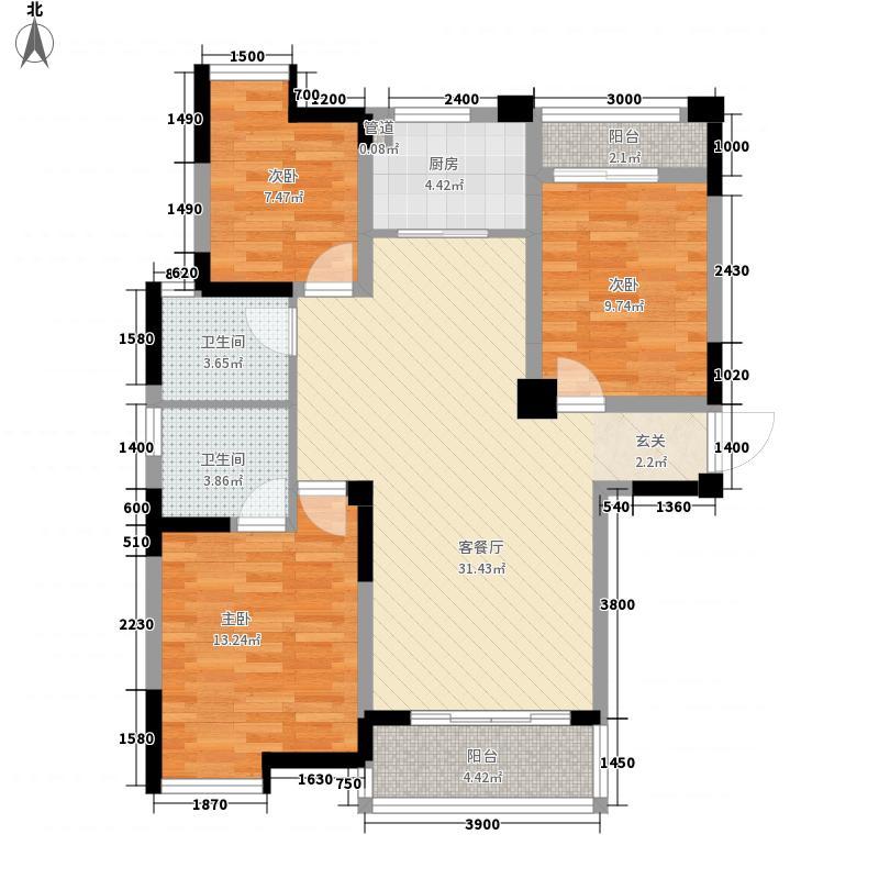 斯瑞新景苑112.00㎡户型3室