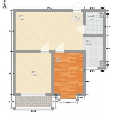 福祉家园1室2厅1卫0厨84.00㎡户型图