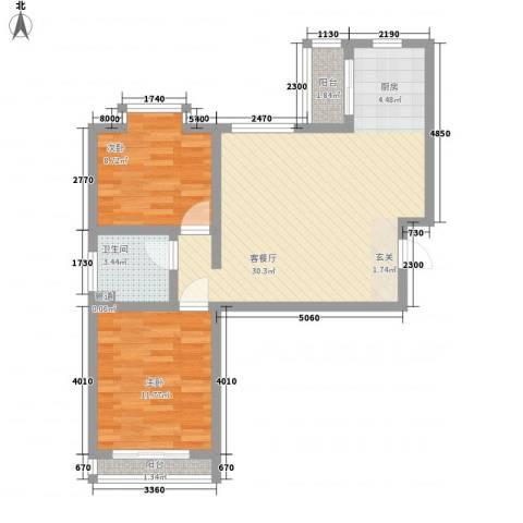 福祉家园2室1厅1卫0厨84.00㎡户型图