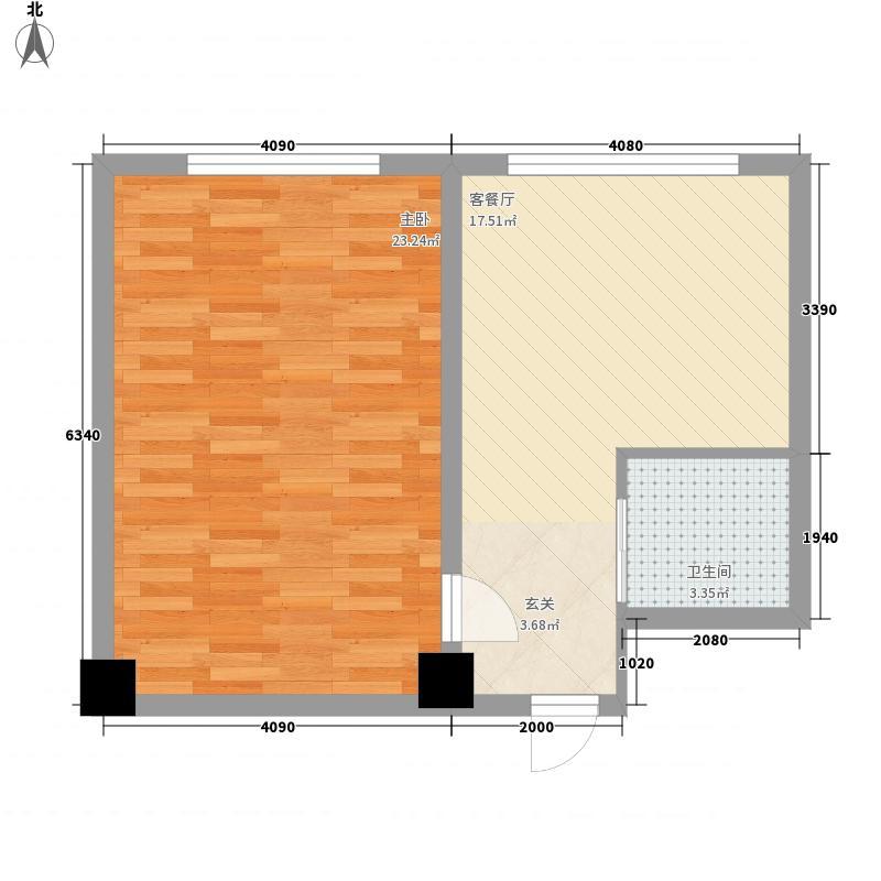 龙禧深蓝公寓6.41㎡户型