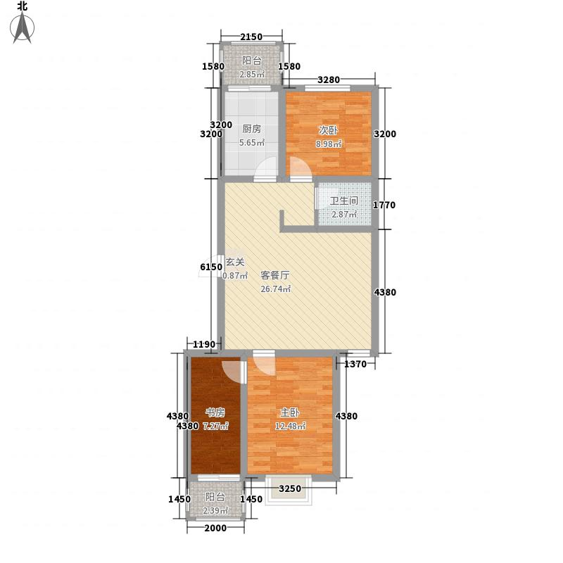 锦绣西双99.66㎡锦绣西双A户型3室2厅1卫1厨99.66㎡户型3室2厅1卫1厨