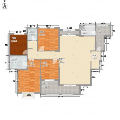 融汇江山4室1厅2卫1厨185.00㎡户型图