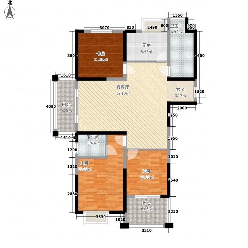 丰盛山庄146.00㎡A2户型3室2厅2卫1厨
