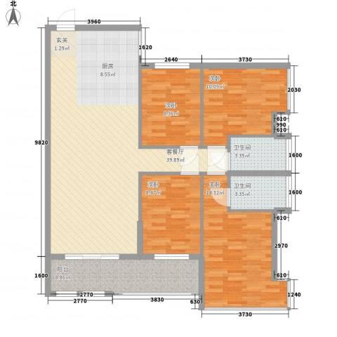 昌厦・御座4室1厅2卫0厨134.00㎡户型图