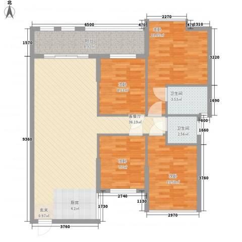 昌厦・御座4室1厅2卫0厨126.00㎡户型图